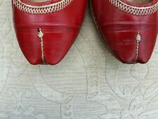 RED   LADIES INDIAN LEATHER  WEDDING PARTY KHUSSA SHOE SIZE 7