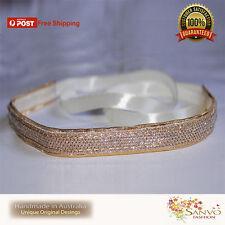 Headband Fascinator Gold Wedding Ladies Girls  Headpiece