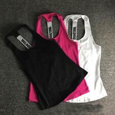 NEW Women Sports Vest Tank Fitness Gym Workout Sleeveless Blouse Top T-Shirt LG
