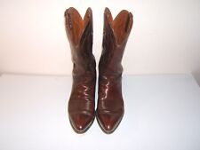 Lucchese Boots, Hand Made, Men's size 11.50 D, Oil Calf Top/Bottom clr chocolate