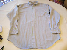 The Territory Ahead XLL cotton blue white long sleeve button up Shirt GUC @