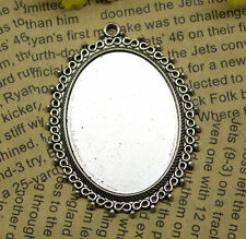 2pcs 55x42mm-30x40mm Antique silver Cameo Cabochon Base Setting Charm