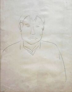 Michael Gross: Man Portrait 1970s/ Israeli Jewish Modern Contemporary Minimalism