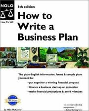 How to Write a Business Plan, McKeever, Mike P., 0873378636, Book, Good
