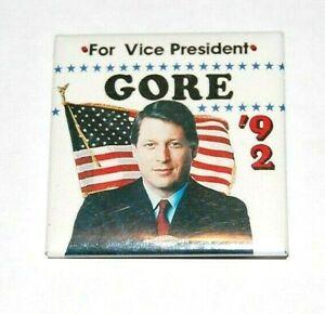 1992 AL GORE VICE PRESIENTIAL Clinton campaign pin pinback button political