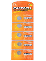 5 x CR1225 3V Lithium Knopfzelle 50 mAh ( 1 Blistercard a 5 Batterien ) EASTCELL