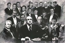 Scarface Soprano Godfather Good fellas Gotti Mafia collage  poster print