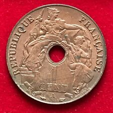#962 - Indochine 1 cent 1938 A Indochine française SUP+ - FACTURE