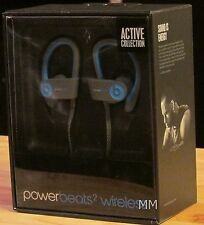 BEATS POWERBEATS2 WIRELESS ACTIVE COLLECTION HEADPHONES DR DRE -BLUE-NEW IN BOX!