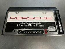 Porsche Carrera License Plate Frame Brushed Silver Stainless Steel PNA70201400