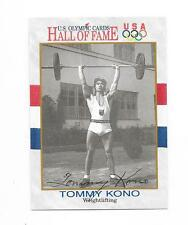 1991 Impel Olympic HOF - TOMMY KONO Hand Signed Autograph Card USA WEIGHTLIFTING