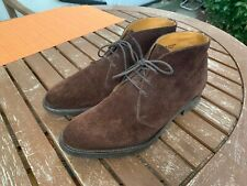 Edward Green Mocha Suede Banbury Chukka Boots shoes size Uk 7.5 E 202 last