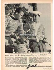 1959 JANTZEN Sportswear Golf Sweater FRANK GIFFORD KEN VENTURI VTG PRINT AD