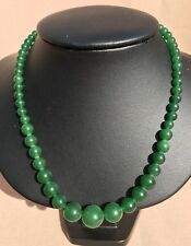 Natural Russian Gemstone Chrysoprase Necklace andrenadya