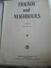 Friends And Neighbours, Sheet Music Marvin Scott and Malcolm Lockyer