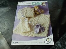 BHKC Baby Double Knitting  or Aran Pattern 44 Jumper & Cardigan 24 - 30 ins