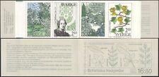 Sweden 1987 Botanical Gardens/Trees/Plants/Flowers/Nature/Lily  8v bklt (n45420)