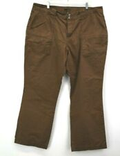 A.N.A. Women's 22W Double Button Multi-Pockets Spring Casual Wide Pants Brown