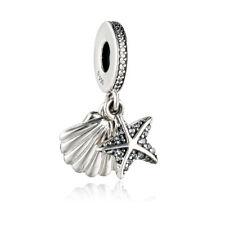 NEW! Authentic Pandora Bead Tropical Starfish Sea Shell Silver Charm 792076CZF