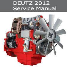 DEUTZ 2012 SERVICE MANUAL BF4M2012 C  BF6M2012 C ENGINE WORKSHOP REPAIR *PDF CD*