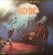 AC/DC  Band Signed  x5 LP Record Album w/ COA