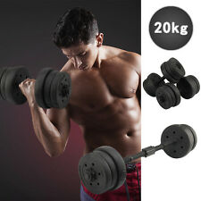 20KG Weights Dumbbell Set Gym Fitness Biceps Exercise Workout Training Dumbells
