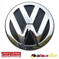 VW GOLF MK7 Black Carbon Fibre - FRONT Badge Inserts. GTI, R32, TDI