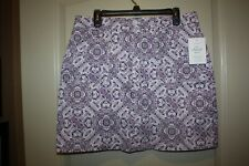 Croft & Barrow - SKORT - Purple and White - Knee length skirt/shorts  - Size 14