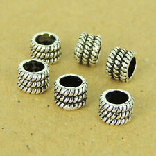 6 PCS 925 Sterling Silver Barrel Spacers Vintage DIY Jewelry Making WSP498X6