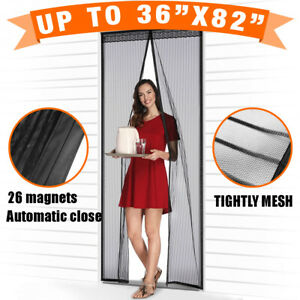 Magnetic Screen Door with Heavy Duty Strong Magnets and Mesh Curtain Transparent