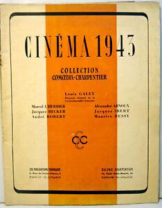 LIVRE d'OR -CINEMA 1943 - RARE - 46 pages  - 24,5  x 31,5 cm