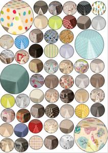 Round Plastic Pvc Wipe Clean Vinyl Table Cloth Multi Coloured Prints Luxury Soft