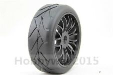 4pcs 1/8 Buggy On-Road Tyre Nylon Y-Spoke wheel(Black) For GT XO-1