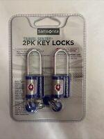 Samsonite Travel Sentry 2 PK TSA Approved Key Lock - Black