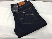 Armani men's jeans dark denim 32/32 J45 regular fit button fly bnwt
