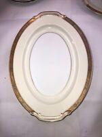 """Noritake China - Goldkin - 4985 - Oval Serving Platter - 11 3/4"""" ECU EXCELLENT"""