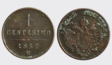 REGNO LOMBARDO VENETO 1848-1866 -AE/ 1 CENTESIMO 1852    MILANO    G6