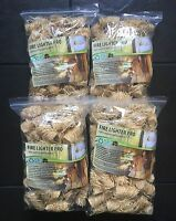 Natural Firelighters 4xZIPS=240pieces For Fireplaces Stoves BBQ free UK shipping