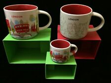 Starbucks London Mug Ornament Set YAH Christmas Big Ben Cup Holiday You Are Here