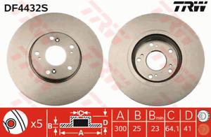 TRW Brake Rotor Front DF4432S fits Honda Accord Euro 2.4 (CL9)
