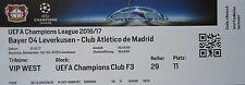 VIP TICKET UEFA CL 2016/17 Bayer Leverkusen - Atletico Madrid