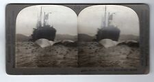 FLOATING WHALE STATION, SPITZBERGEN: Stereoscopic photograph (C28669)