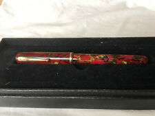 Vintage WATERMAN'S IDEAL 92 Deep Red Wine Gold Marble Fountain Pen