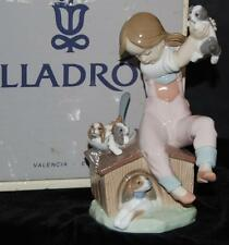 "Lladro Figurine ""Pick of Litter""  Dogs & Girl  #7621 -Ret 1993 by S Debon -MIB"