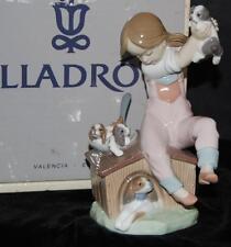 """Lladro Figurine """"Pick of Litter""""  Dogs & Girl  #7621 -Ret 1993 by S Debon -MIB"""