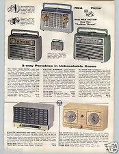 1957 PAPER AD Radio RCA Victor Impac Granco Strato-World Golden Throat Trotter