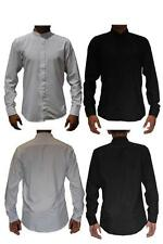Polyester Grandad Regular Fit Casual Shirts for Men
