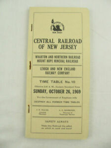 Central Railroad of New Jersey ETT Timetable 1969