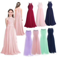 girls party wedding bridesmaid pageant princess occasion flower girl dress 4-14Y
