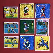 9 x Kaugummi Papier ML Donald Duck, OK big ball, Hitschler Pink Panther  ( 81355